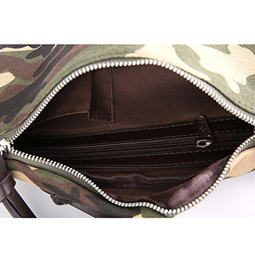 Triliel - Bolso al hombro para hombre multicolor camouflage