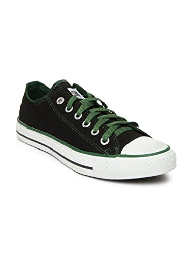 4924972af51b Converse Unisex Black Green Canvas Shoes - 502821-Black Green-8  Buy Online  at Low Prices in India - Amazon.in