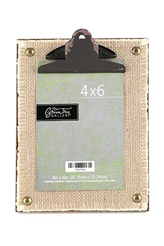 Amazon.com - Green Tree Gallery Distressed Burlap Clipboard Photo ...