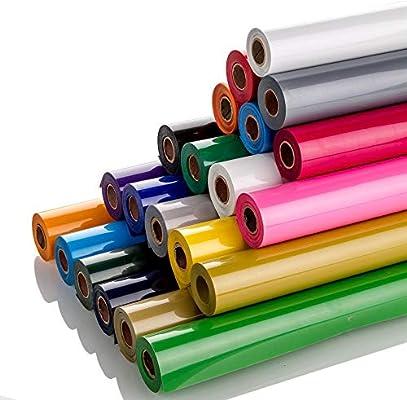 Guangyintong Rollo de vinilo de transferencia de calor de PVC, 12 pulgadas x 10 pies, mate, no adhesivo: Amazon.es: Juguetes y juegos