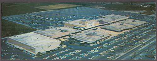 Greater Miami 163rd St Shopping Center long postcard 1958 Burdine's - Shopping Miami Centres