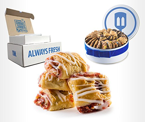 Fresh Baked Raspberry Cream Cheese Rugelach Gift Tin   Gimmee Jimmy's Cookies   2 Pound