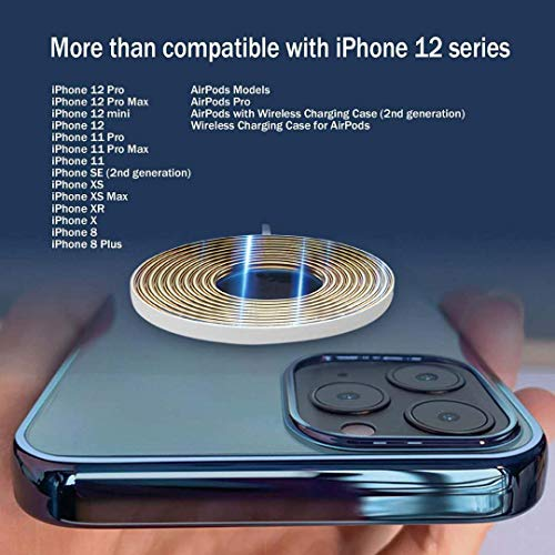 Yibosen Wireless Charger Fast-Charging Compatible with iPhone 12 Pro MaxiPhone 12 MiniiPhone SEiPhone 11 Pro