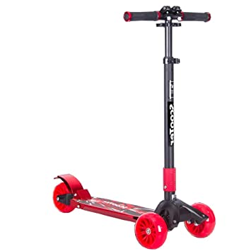LJHBC Patinete Scooter Infantil de 3 Ruedas Altura Ajustable ...