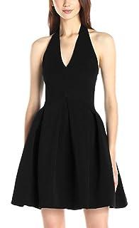 sekitoba-japan.inc Sleeveless Short Black Dress for Women Sexy and Elegant