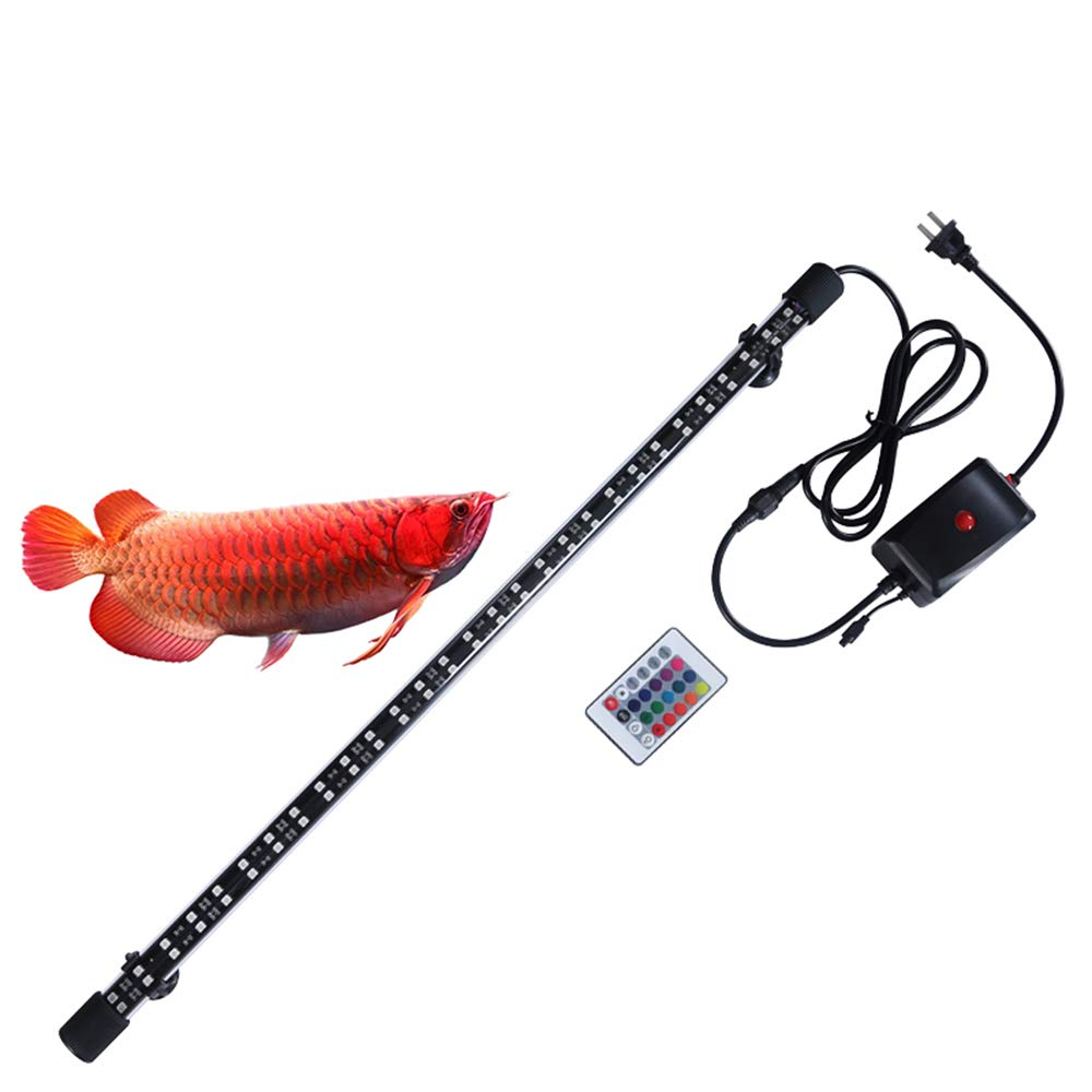 143CM LED Aquarium Light with Remote Control, Waterproof Multi-color, Submersible Fish Tank Light, Highlight, for Fish Tank, Voltage 110-220v,143CM