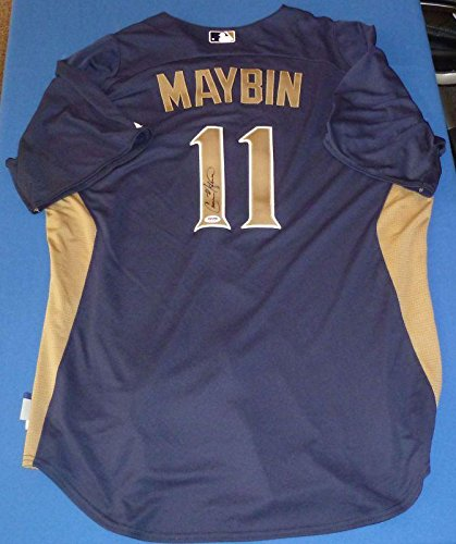 detailed look 7ecfd 2e858 Cameron Maybin Signed Game Issued Padres Jersey - PSA/DNA ...