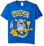 Pokemon Big Boys Pikachu Short Sleeve Tee, Royal, Small/8