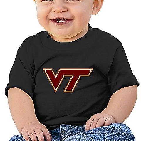 KIDDOS Infants &Toddlers Baby's Virginia Tech - VT Logo Tees 24 Months Black (Digimon Travel Mug)