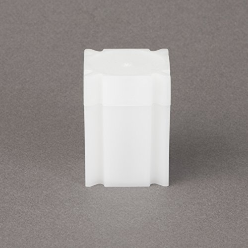 (5) Coinsafe Brand Square White Plastic (Half Dollar) Size Coin Storage Tube Holders Model: Office Supply Product Store