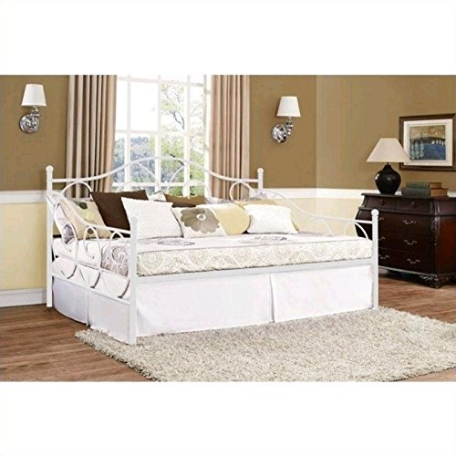 DHP Victoria Full Size Metal Daybed, White