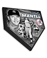 Mickey Mantle Memorabilia Home Plate Baseball Plaque - 11.5 x 11.5 Photo - Licensed MLB Baseball Memorabilia