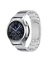 LDFAS Gear S3 Band Quick Release Stainless Steel Metal Link Bracelet Strap for Samsung Gear S3 Frontier / Classic - Silver