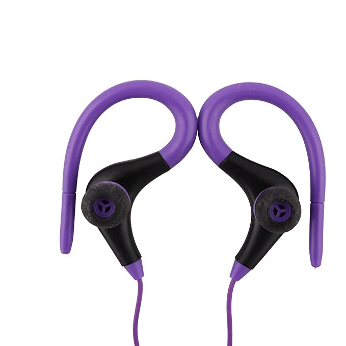 Amazon.com: eDealMax la computadora del MP3 DE 3,5 mm conector Jack de oído-gancho de la suspensión de diseño auriculares auriculares púrpura: Home Audio & ...