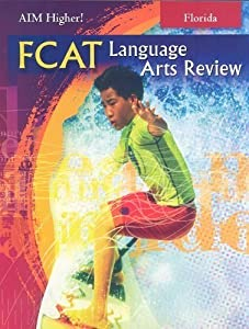 Hardcover Aim Higher! Fcat Language Arts Review Book