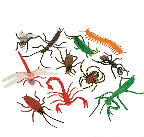Rhode Island Novelty Assorted Realistic Insects/Bugs | 144 Pieces -
