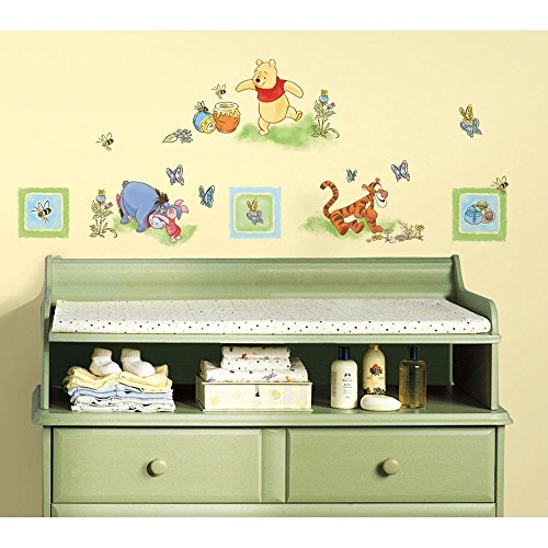 New Winnie The Pooh Wall Decals Baby Nursery Or Kids Bedroom Stickers Bear Decor