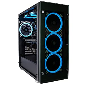 CUK Stratos VR Ready Gamer PC (Liquid Cooled Intel i7-8700K 16GB RAM, 500GB NVMe SSD + 1TB HDD, NVIDIA GeForce GTX 1080 Ti 11GB, 600W PSU, AC Wifi, Windows 10) Gaming Desktop Computer