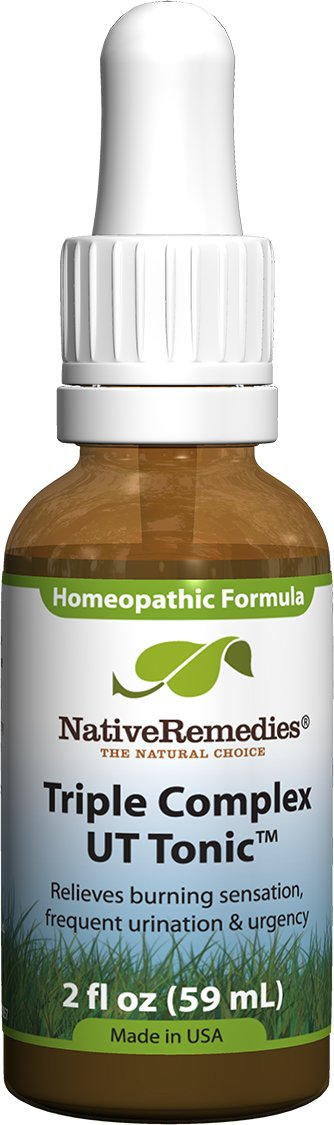 Native Remedies Triple Complex UT Tonic - Natural Homeopathic Formula to  Relieve Bladder