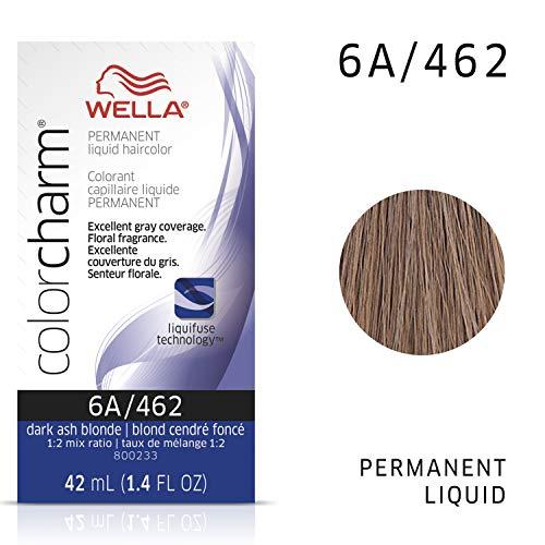 Wella Color Charm Permanent Liquid Hair Color Blondes, Wella Color Charm Perm Liquid 6A Dark Smokey Ash Blon
