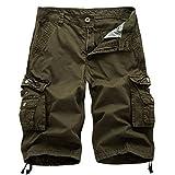Men's Twill Cargo Shorts Casual Outdoor Wear Lightweight