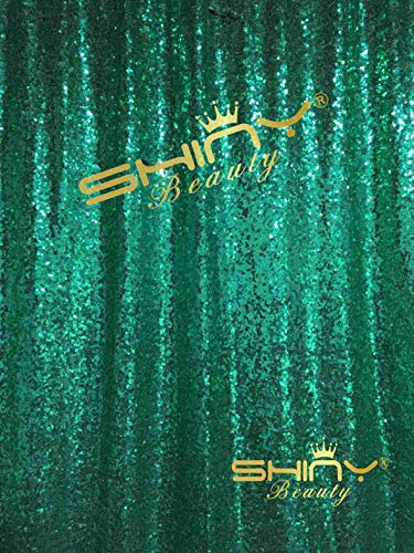 Sequin Backdrop 8ft by 10ft Green Shimmer Curtains for Backdrop Glitter Backdrop 8ft for Wedding/Baby Shower/Photography M0424