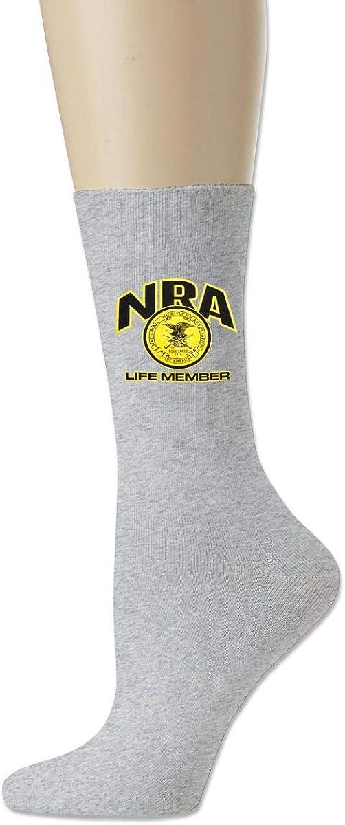 NRA Life Member Comfort Cotton Ankle High Socks For Women /& Men