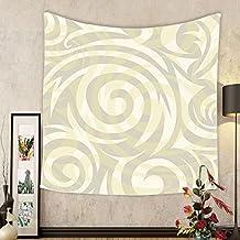 Gzhihine Custom tapestry Modern Art Home Decor Tapestry Vivid Postmodern Pattern with Swirls Authentic Assemblage of Boho Design for Bedroom Living Room Dorm 60WX40L Multi