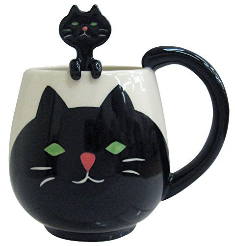 Decole Cat Mug and Spoon