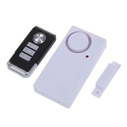 SODIAL(R) Inalambrico Sensor de seguridad de ventana puerta magnetica Alarma antirrobo de entrada / Remoto control