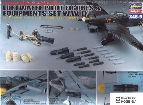 Hasegawa 1:48 - (36009) (36009) (36009) Luftwaffe Pilot Figures & Equipment Set - H-X48-09 e45d5d