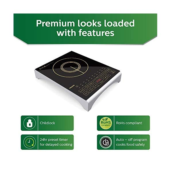 Philips-Viva-Collection-HD493801-2100-Watt-Induction-Cooktop-with-Sensor-Touch-Black