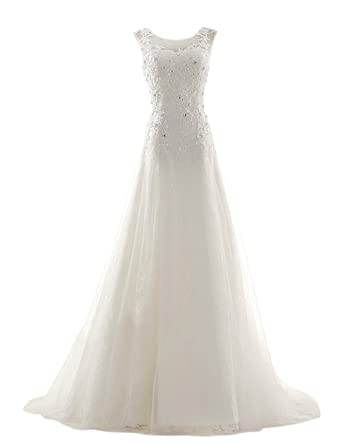 Dresstells A Line Long Tulle Wedding Reception Bride Evening Dresses