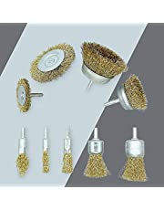 Wire Wheel Brush Drill Attachment 9 Pcs with 1/4in Shank for Cleaning Rust, Stripping and Abrasive