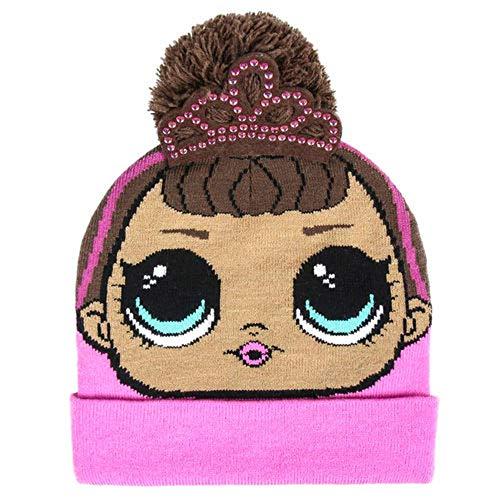 L.O.L. ¡Sorpresa! Gorro de invierno 3D premium con pompón Fancy para niña