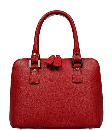 aus praktische Leder in Rossa Stella Handtasche der Hand Schöne Leder Rote Idppq