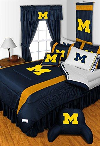 NCAA Michigan Wolverinesクイーンベッドセット B01834CLDI