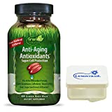 Irwin Naturals Anti Aging Antioxidants Super Cell Protection - 60 Soft-Gels - Bundle with a Lumintrail Pill Case.