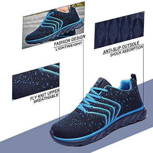 c6c5451a95518 XIDISO Mens Running Shoes Women Lightweight Slip On Sneakers for Men Cross  Training Athletic Gym Tennis Sports Walking Shoe Blue