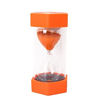 gleader security fashion hourglass 10 minutes sand timer orange
