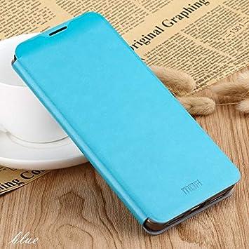 Cuero Mobile Phone Covers, la Carpeta del tirón de For Xiaomi MI 9 Pro, Caja De Cuero De Cuero del Tirón con El Soporte Integrado Planchas De Acero con Todo Incluido Funda magnética (Color : Azul)
