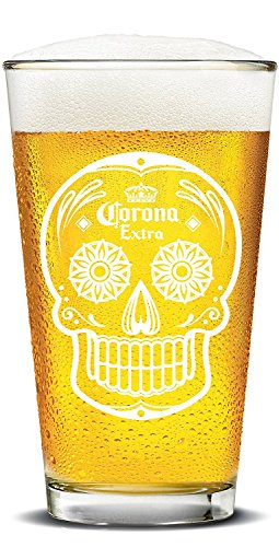 Corona Extra Day of the Dead Painted Pubs (Set of - Corona Glasses