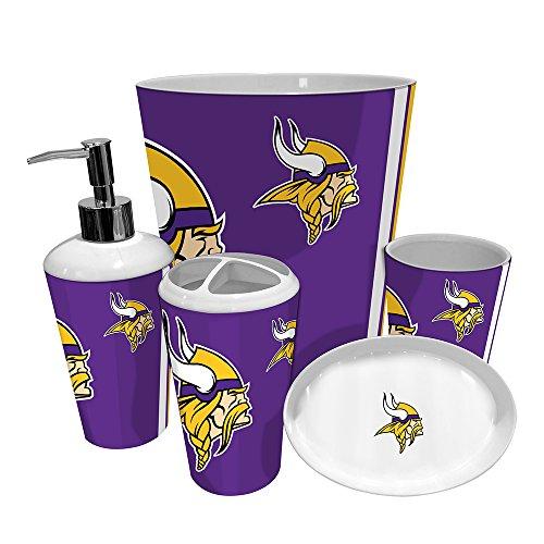 Bathroom Accessories Full Set : Minnesota vikings nfl complete bathroom accessories pc