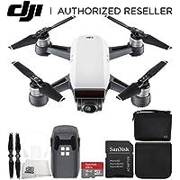 DJI Spark Quadcopter (Alpine White) + DJI Spark Bag Starter Bundle