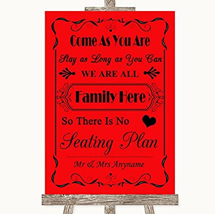 Red Wedding Sign Collection Red All Family - Señal de boda ...