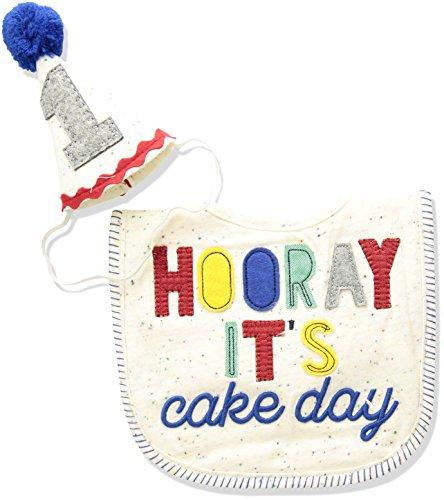 1st Birthday Bib (Mud Pie Baby Boys First Birthday Cake Smashing Set, Multi, One)