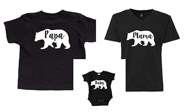 4376c3942 Family Bear Shirts Mothers Day Gift Mama Bear Papa Bear Baby Bear Matching:  Amazon.ca: Handmade