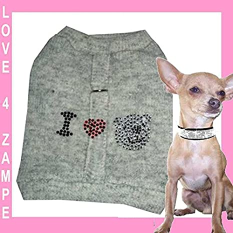 XS Love You My WOLL Teddy softgesc infantil Chihuahua perro perros - Sudadera para mujer para pequeños perros mano: Amazon.es: Productos para mascotas