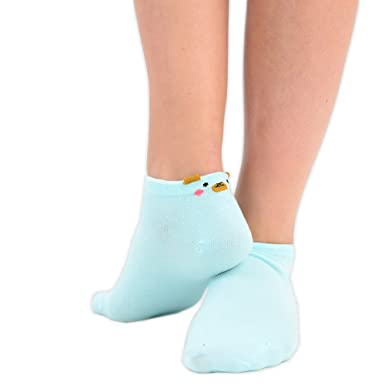 45cbeeb3f00da Girls Colourful Trainer Socks with Cute Bear Faces 5 Colours as 1 3 Pairs  in UK Size 4-6.5: Amazon.co.uk: Clothing