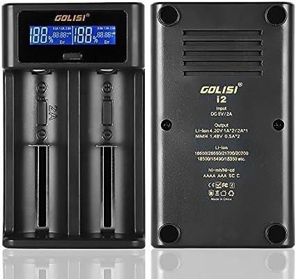 Amazon.com: Cargador de batería inteligente, golisi I2 2 A ...